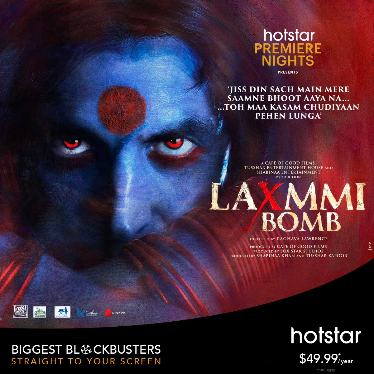 Laxxmi Bomb Coming Soon On Hotstar US & Canada