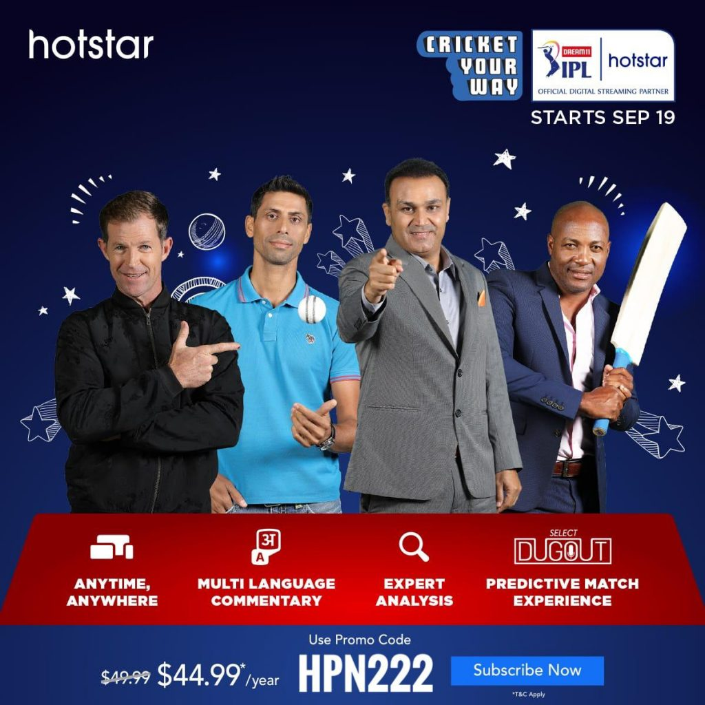Watch IPL on Hotstar USA