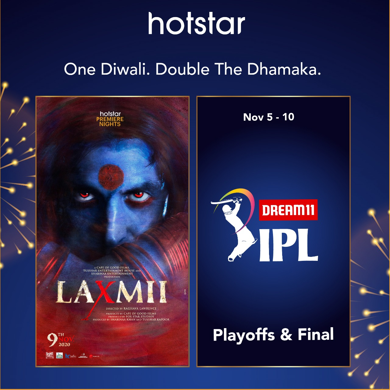 Watch Laxmii and IPL USA and Canada