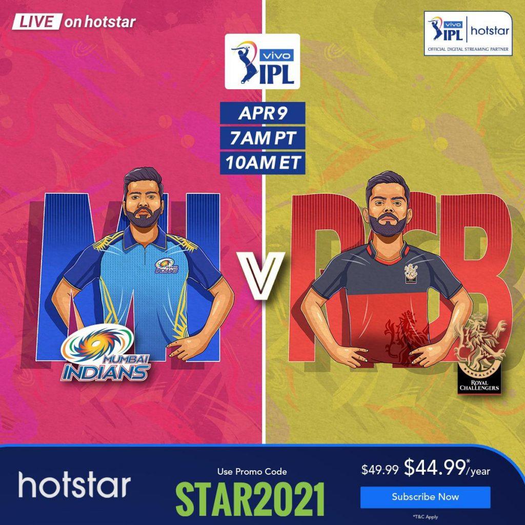 IPL 2021 on Hostar USA